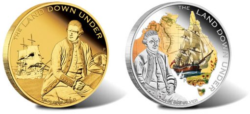 2013 Captain James Cook Gold and Silver Coins