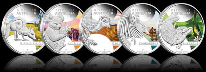 2013 Discover Australia Silver Proof Coins