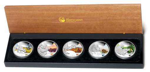 2013 Discover Australia Silver Proof Five-Coin Set
