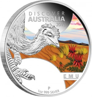 2013 Emu Silver Proof Coin