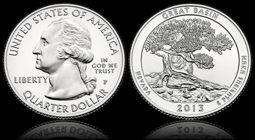 2013 Great Basin National Park Quarter - Obverse and Reverse