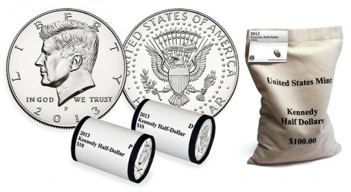 2013 Kennedy Half-Dollars, Rolls and Bag