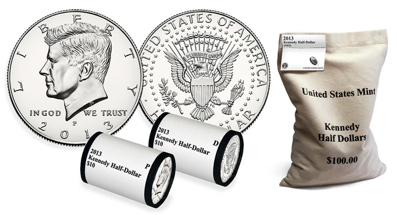Uncirculated 2014 Half Dollar P Roll From Bag Mint or Bank BU