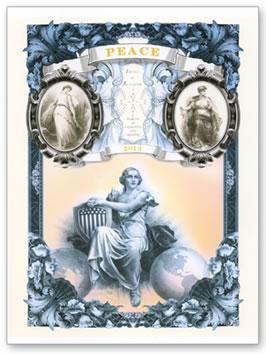 2013 Peace Intaglio Print