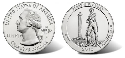 2013 Perry's Victory Five Ounce Silver Uncirculated Coin