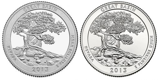 2013 Proof and Uncirculated Great Basin National Park Quarters