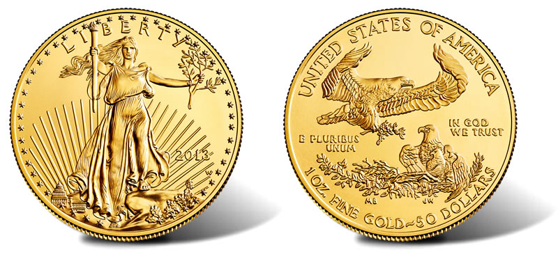 2013 W 50 Uncirculated American Gold Eagle Released