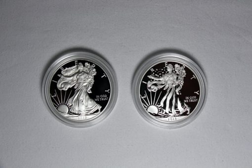 2013-W Proof Silver Eagle and 2013-W Enhanced Uncirculated Silver Eagle