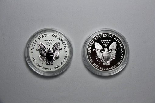 2013-W Reverse Proof and Enhanced Uncirculated American Silver Eagles - Reverses