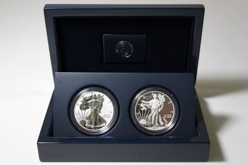 2013 West Point Silver Eagle Set in Blue Lacquered Hardwood Presentation Case