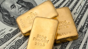 250g Gold Bars and US Money