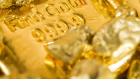 999.9 Fine Gold Bar and Nuggets