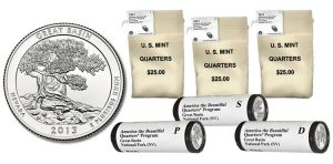 Bags and Rolls of 2013 Great Basin Quarters