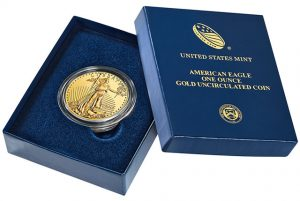 Case for the 2013-W $50 Uncirculated Gold Eagle Coin