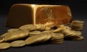 Gold Bar and Gold Bullion Coins