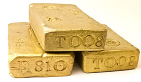 Gold Bullion Bars, Three