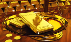 Gold, Coins and Scale