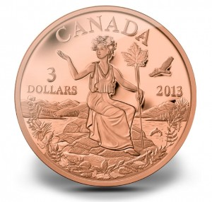 Miss Canada Allegory Bronze Coin