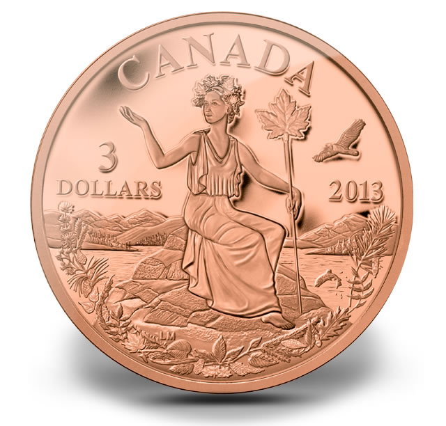 miss canada allegory in gold silver and bronze coins coin news