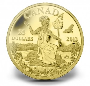 Miss Canada Allegory Gold Coin