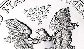 Partial Image of American Eagle Silver Bullion Coin