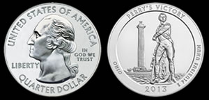 Perry's Victory Five Ounce Silver Bullion Coin