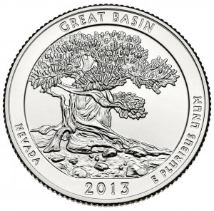 Reverse side of Great Basin Quarter