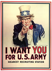Uncle Sam - I Want You, WWI