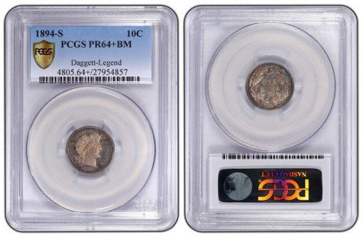10C 1894-S PCGS BM PR64+ Daggett Specimen