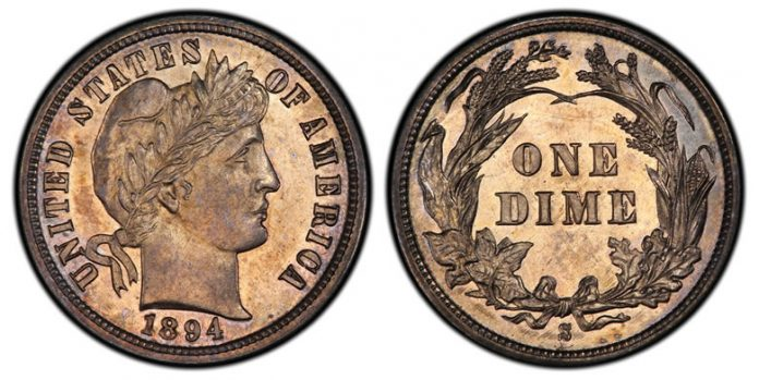 1894-S Proof Barber Dime