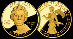 2012-W $10 Alice Paul and the Suffrage Movement Proof Gold Coin