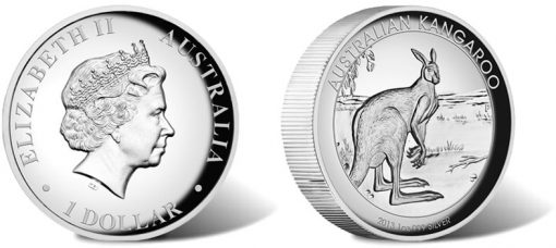 2013 Australian Kangaroo Silver Proof Coin in High Relief