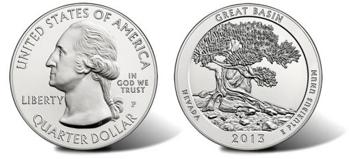 2013 Great Basin 5 Oz Silver Uncirculated Coin