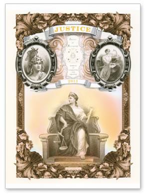 2013 Justice Intaglio Print