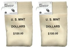 2013 P and D William Howard Taft Presidential $1 Coins in Bags