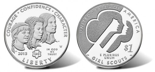 2013 Uncirculated Girl Scouts of the USA Centennial Silver Dollar