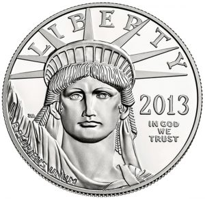 2013-W Proof American Platinum Eagle Coin - Obverse