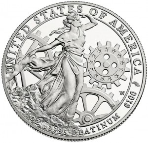 2013-W Proof American Platinum Eagle Coin - Reverse