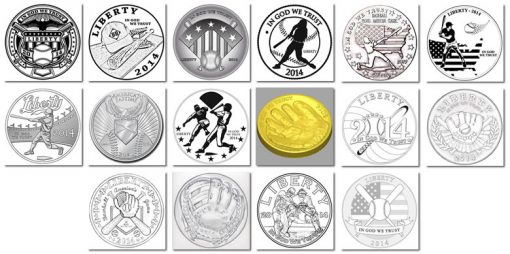 2014 Baseball Coin Designs - Obverse Finalists