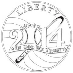 Batter Up Baseball Coin Design