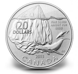 Canadian 2013 $20 Iceberg Silver Coin for $20