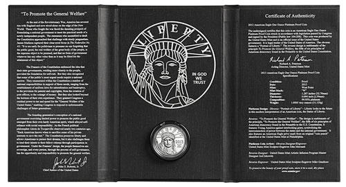 Case for 2013 Proof Platinum Eagle Coin