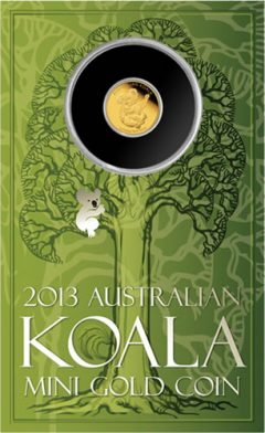 Display Card for 2013 Australian Mini Koala 0.5g Gold Coin