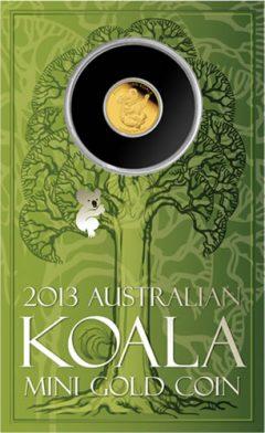 Display Card for 2013 Australian Mini Koala 0.5g Gold Coin