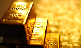 Gold Bars, Three Stacked