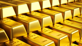 Layered 999.9 Gold Bars