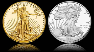 Numismatic Gold Eagle and Silver Eagle Coins