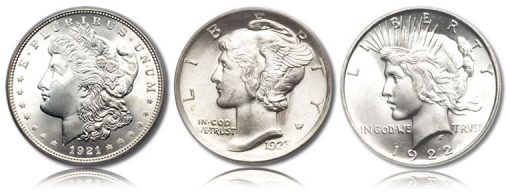 Older US Coins Featuring Lady Liberty Designs