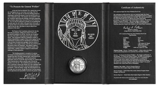 Presentation Case 2013-W Proof American Platinum Eagle Coin