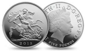 Royal Birth 2013 UK £5 Silver Sovereign Coin